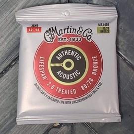 Encordoamento para Violão de Aço Bronze 80/20 Lifespan 2.0 Tensão 12/54 MA140T Martin