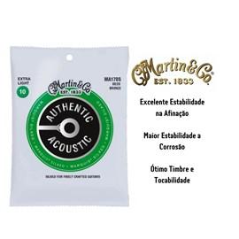 Encordoamento para Violão de Aço Bronze 80/20 Marquis Silked Tensão 10/47 MA170S Martin