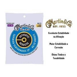 Encordoamento para Violão de Aço Bronze 80/20 Superior Performance Tensão 11/52 MA175 Martin