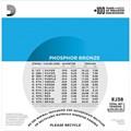Encordoamento para Violão de Aço EJ38 12 Cordas 0.010-0.047 Jogo de Cordas D'Addario