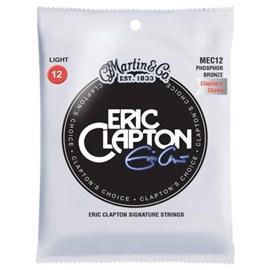 Encordoamento para Violão de Aço Eric Clapton Choise Phosphor Bronze Tensão 12/54 MEC12 Martin