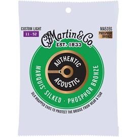 Encordoamento para Violão de aço Phosphor Bronze Marquis Silked Tensão 11/52 Martin