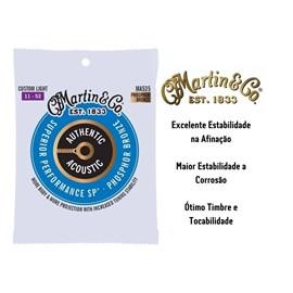 Encordoamento para Violão de Aço Phosphor Bronze Superior Performance Tensão 11/52 MA535 Martin