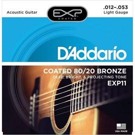 Encordoamento para Violão EXP 11 NY Steel Bronze 80/20 - 0.012-0.053 Jogo de Cordas D'Addario