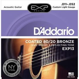 Encordoamento para Violão Exp13 NY Steel Bronze 80/20 - 0.011-0.052 Jogo de Cordas D'Addario