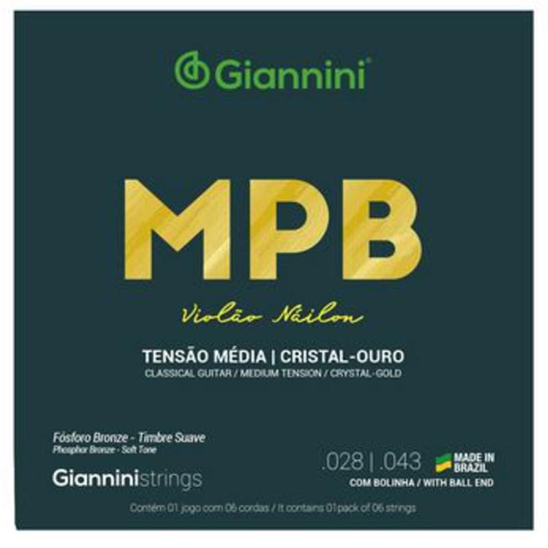Encordoamento para Violão Genwg Cristal/dourado Jogo de Cordas Giannini