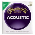 Encordoamento para violão M170X Bronze 80/20 Extra Light .010-.047 Jogo de Cordas Martin