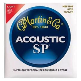 Encordoamento para Violão MSP3100 Bronze Light 012-.054 Jogo de Cordas Martin