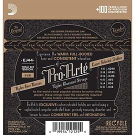 Encordoamento para Violão Nylon EJ44 Extra Hard/prata 0.029-0.049 Jogo de Cordas D'Addario