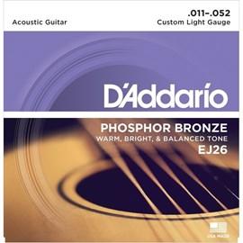 Encordoamento para Violão Phosphor Bronze EJ-26 - 0.011-0.052 Jogo de Cordas D'Addario