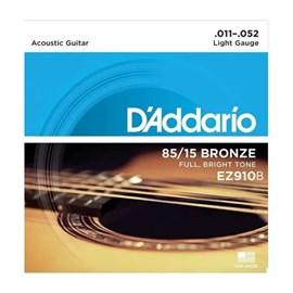Encordoarmento para Violão Aço Ez910 B+pl011 (0.011-0.052) Jogo De Cordas D'Addario