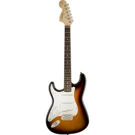 Guitarra Canhota Stratocaster Affinity Escala em Laurel - Brown Sunburst Squier By Fender - Sunburst (Brown Sunburst) (532)