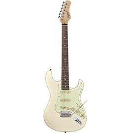 Guitarra Classic T-635 Escala Escura Mint Green Tagima - Branco (Vintage White) (41)