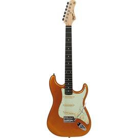 Guitarra Woodstock Tg-500 de Escala Escura Escudo Mint Green Tagima - Amarelo (Metallic Gold Yellow) (MGY)
