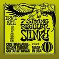 IZ-12877 Encordoamento para Guitarra Nickel Slinky 7 Cordas - 0.10-0.56 Jogo de Cordas Ernie Ball