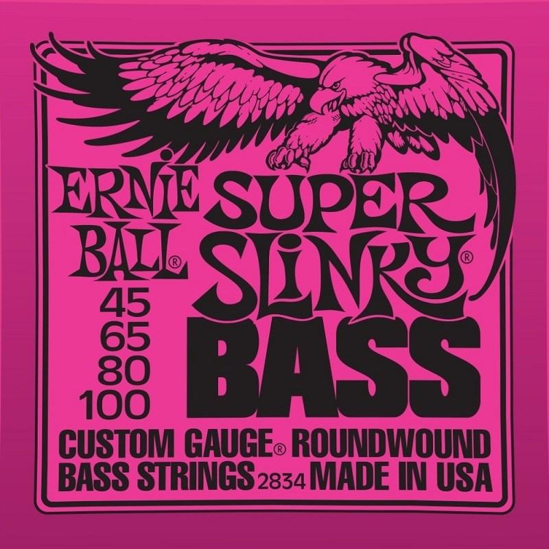 IZ-12889 Encordoamento para Contrabaixo 4 Cordas 2834 Super Slinky 045-100 Ernie Ball