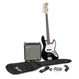 Kit Baixo 4c Affinity Jazz.bass & Amplificador Rumble 15 Squier By Fender - Preto (Black) (506)
