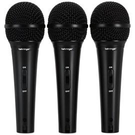 Kit com 03 Microfones Xm 1800s Dinâmico Cardióide Behringer