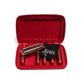 Kit com 6 Gaitas Diatônicas A C D E F G Free Blues 70120 Hering