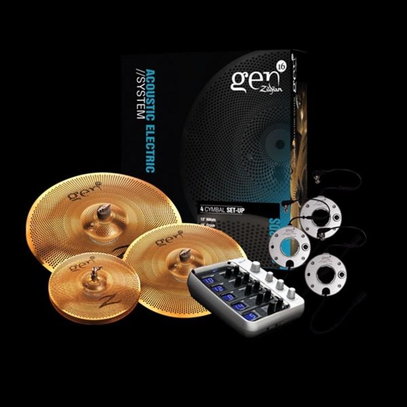 """Kit de Pratos e Processador Gen16 Ae368 13""""16""""18"""" G16bs2ds Zildjian"""