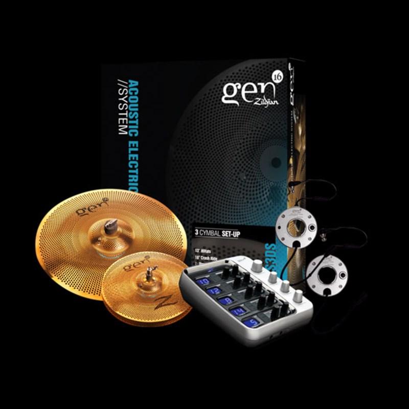 """Kit de Pratos e Processador Gen16 Ae38 13""""18""""g16bs3ds Zildjian"""