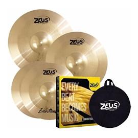 "KIT DE PRATOS EVOLUTION PRO SET C 14"" 16"" 20"" 10004 Zeus"