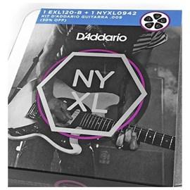 Kit Ecordoamento para Guitarra Exl120B & NYXL 009 - 042 com 2 Jogos D'Addario
