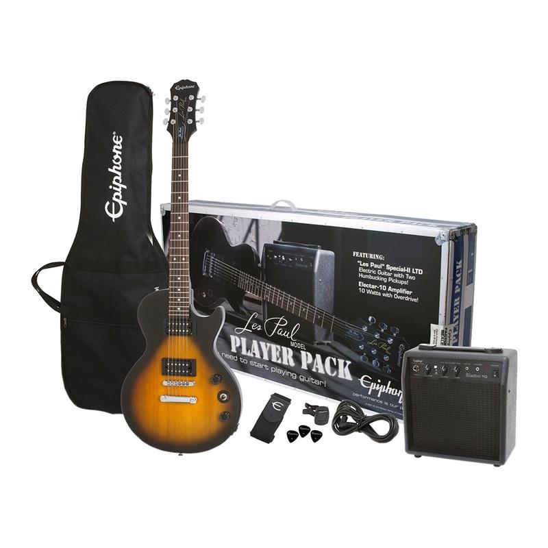 Kit Guitarra Les Paul Special Player Pack com Amplificador e Acessórios Epiphone - Sunburst (Vintage