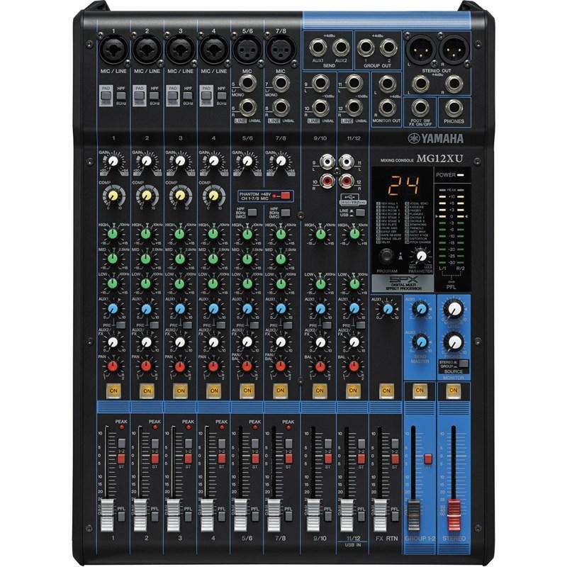 Mesa de Som Mixer Mg -12xu - Usb Yamaha