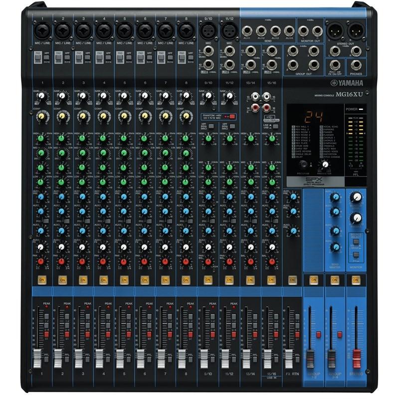 Mesa de Som Mixer Mg -16 Xu Usb Yamaha