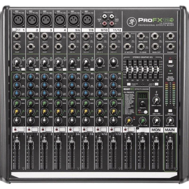 Mesa de Som Mixer Profx 12 V2 Mackie