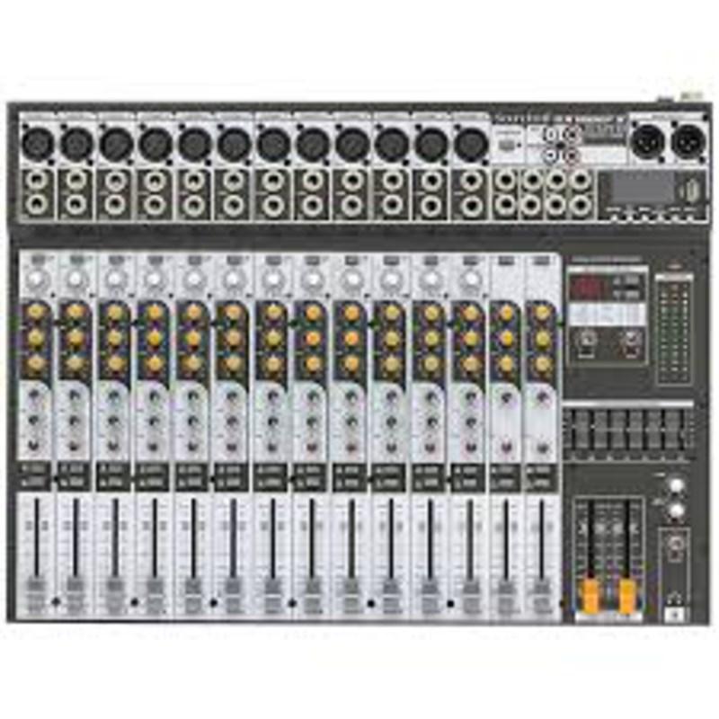 Mesa de som Mixer SX 1602 FX USB Soundcraft