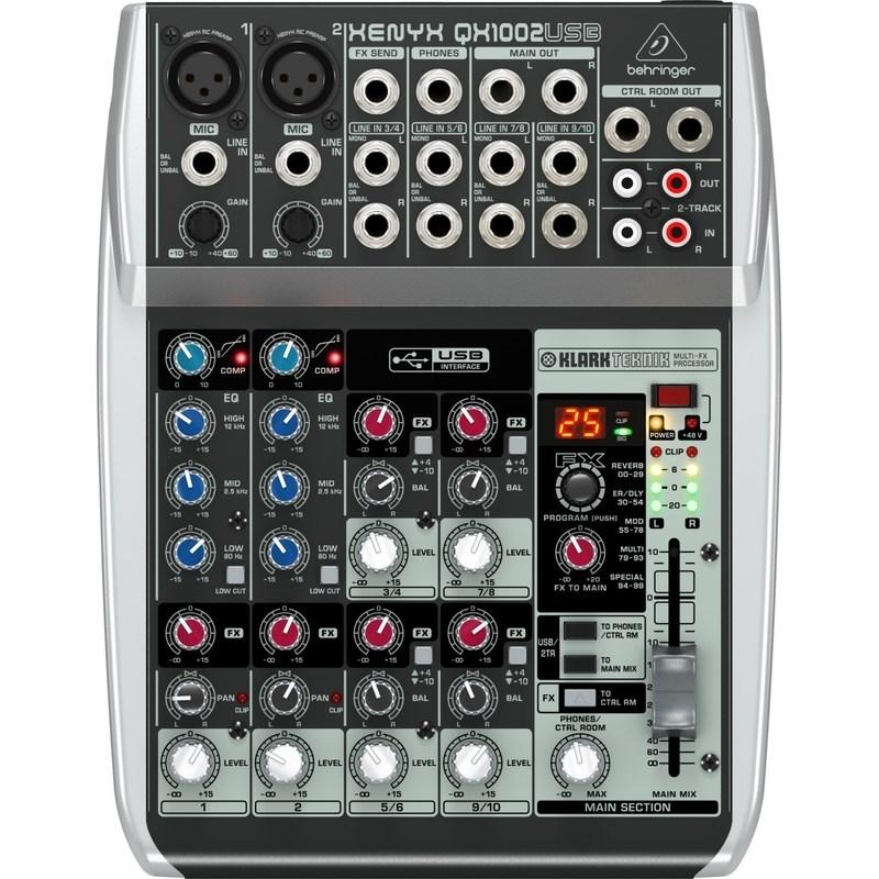 Mesa de Som Mixer Xenyx Qx1002usb Behringer