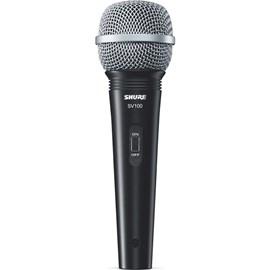 Microfone Dinâmico Cardióide para Vocal SV100 Shure - Preto (BK)
