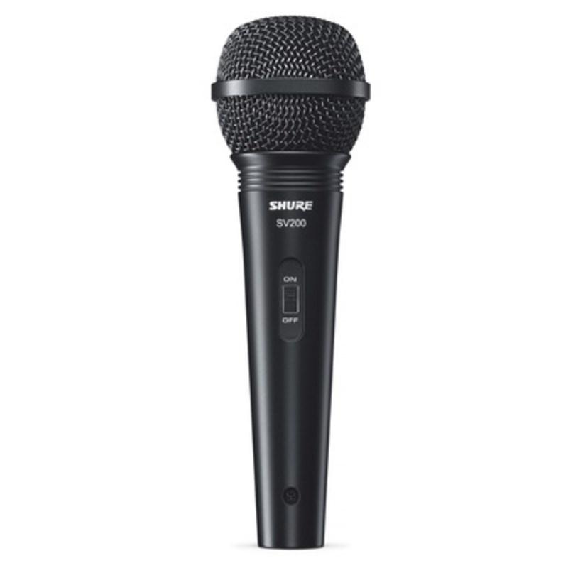 Microfone Dinâmico Cardióide para Voz Sv200-w Shure