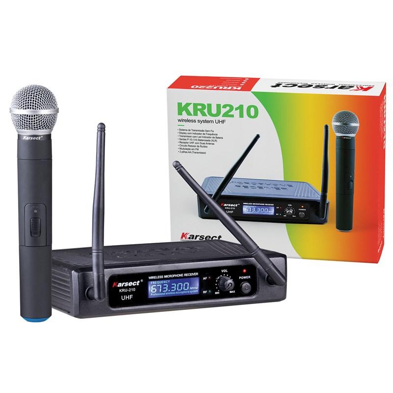 Microfone Sem Fio Bastao Uhf Kru210 Karsect