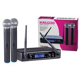 Microfone Sem Fio Duplo Bastão UHF KRU 220 Karsect