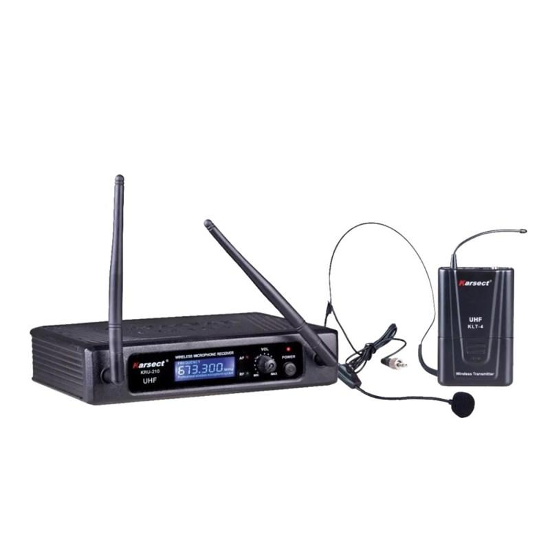 Microfone Sem Fio Headset Uhf Kru 210H Karsect