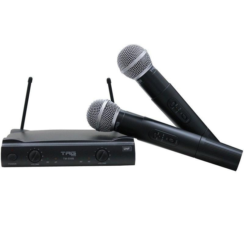 Microfone Sem Fio Tm 559 B Bastão Duplo Tagima