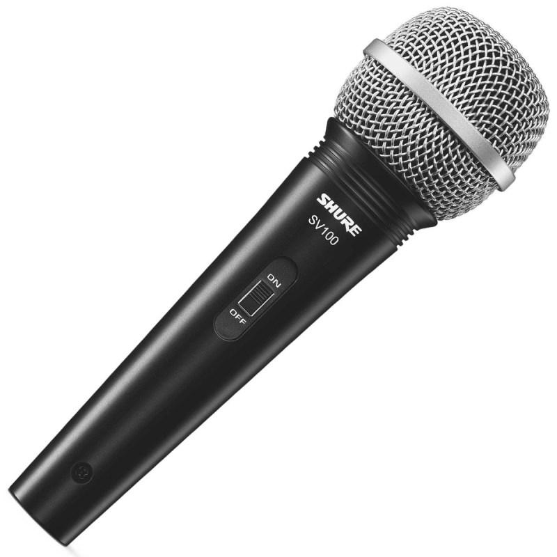 Microfone Shure Sv100 Dinâmico Unidirecional com Cabo Xlr/p10.