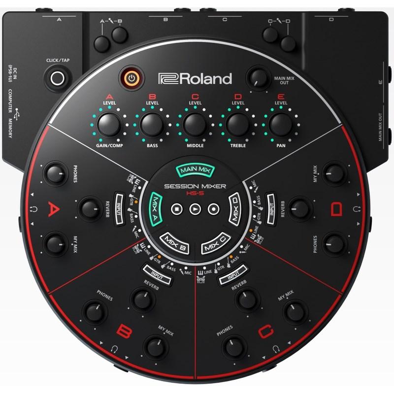Mixer Roland HS-5 Monitor de Fone de Ouvido para Ensaio e Gravação Roland