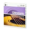 Pack com 3 Jogos de Cordas para Violão de Aço EJ26 (.011) D'Addario