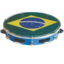 "Pandeiro 10"" Standart Injetado Bandeira do Brasil Tp350az Torelli"