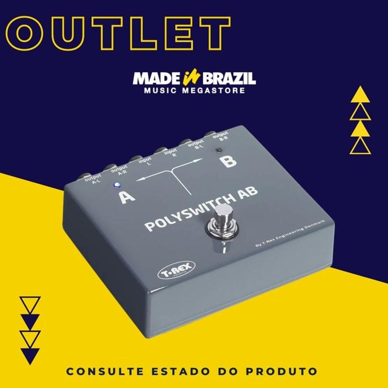 Pedal A/B Seletor de canais Bypass Switcher T-Rex