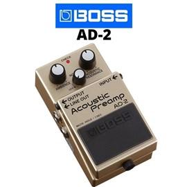 Pedal  AD 2 Acoustic Preamp Pré Amplificador para Violão Boss
