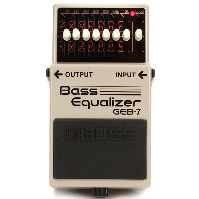 Pedal Equalizador para Contrabaixo GEB 7 Bass Equalizer Boss