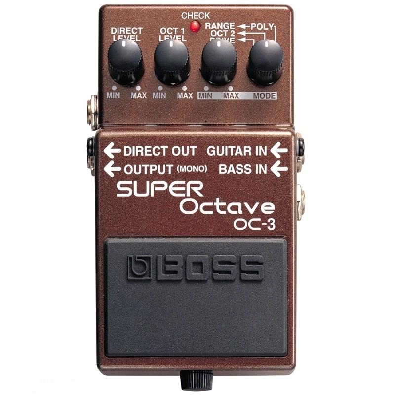 Pedal Oitavador para Guitarra e Contrabaixo OC 3 Octave Boss