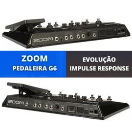 Pedaleira para guitarra com Impulse Response G6 Zoom