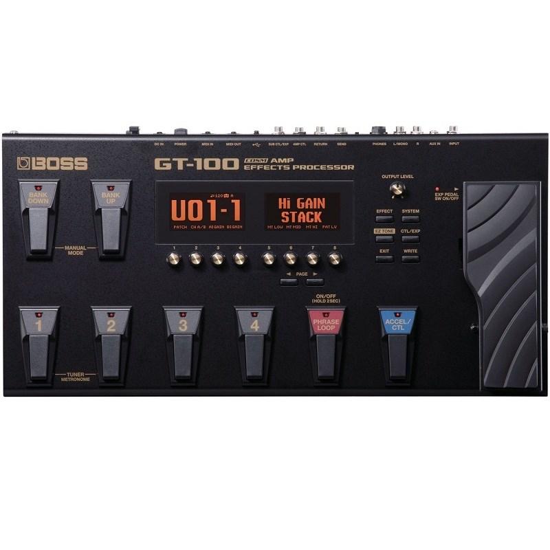 Pedaleira para Guitarra GT 100  Multi Efeito Boss