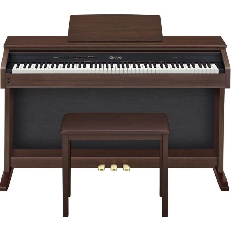 Piano Digital AP 260 Celviano com Banco 88 Teclas Casio - Marrom (Oak) (BN)